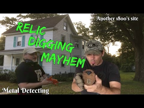 Relic digging mayhem - Metal Detecting an old home for coins & unique treasures - part1