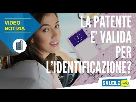 La patente è valida per l'identificazione?