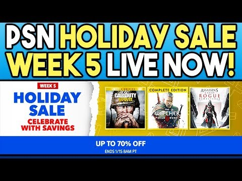 PSN Holiday Sale Week 5 Live Right Now! Final Week of Great PS4 Game Deals!