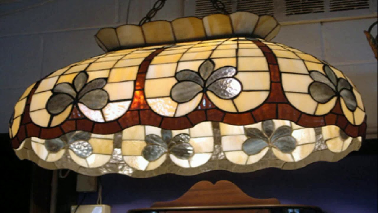 Stained Glass Hanging Lamp Shades Patterns Youtube