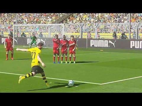 PES 2018 – GAMEPLAY BORUSSIA DORTMUND vs LIVERPOOL, GOLAÇO DE FALTA (Análise 3/3)