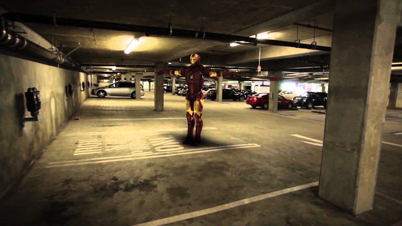 Iron Man parked in my parking Garage - Element 3D - YouTube