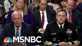 Trump Officials Refuse To Answer Senate Questions About Donald Trump | Rachel Maddow | MSNBC