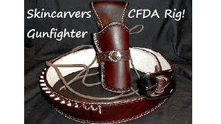 Skincarver Gunfighter Rig:  Cowboy Fast Draw Best Buy!