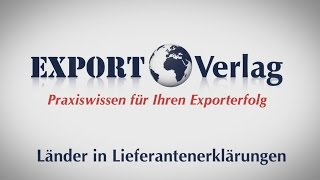Warenursprung und Präferenzen - Länder in Lieferantenerklärungen