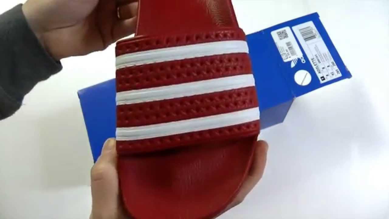 adidas adilette cloudfoam red