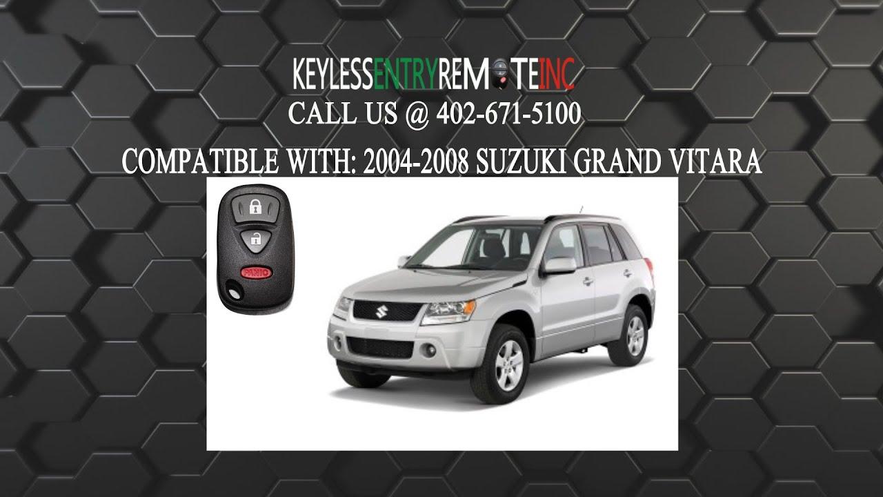 Key Fob For Suzuki Grand Vitara