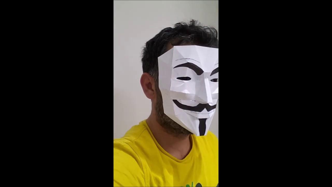 V For Vendetta Maske Yapimi Eskici Gny
