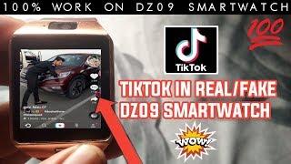 TIKTOK IN REAL/FAKE DZ09 SMARTWATCH|| INSTALL TIKTOK APP IN DZ09 SMARTWATCH