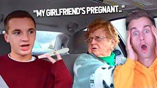 "Grandparents React To ""I Got Her Pregnant!""  (AWKWARD)"