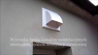 Montaż nawiewników okiennych - Wentylacja mechaniczna Dargo