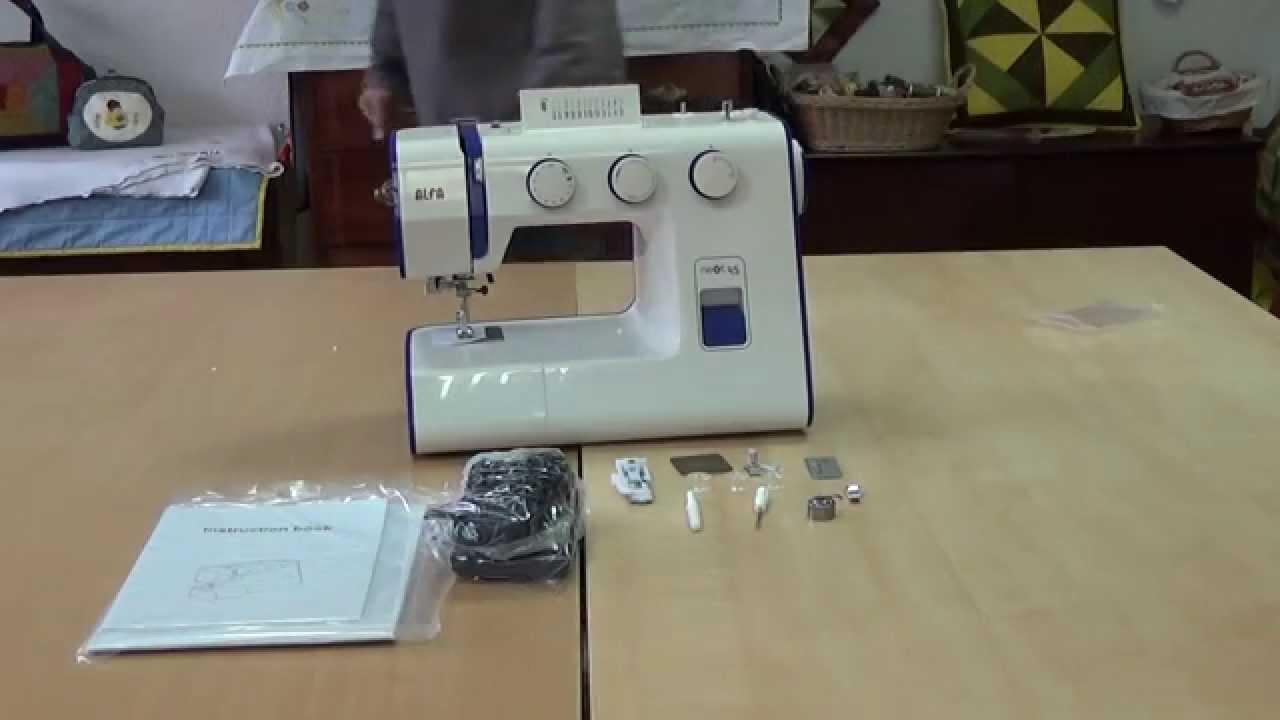 Maquina de coser ALFA next 45 - YouTube