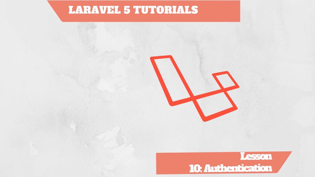 laravel authentication tutorial