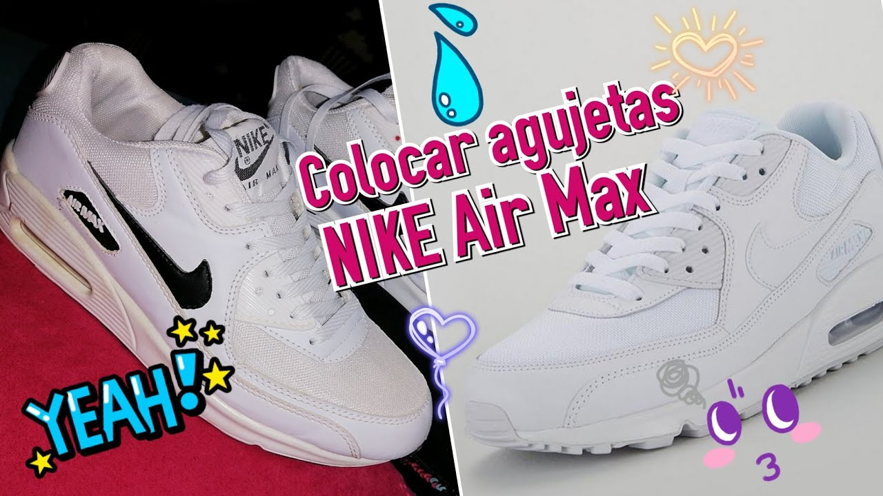 compensar Responder calcetines  Como ponerle las cintas/ agujetas Nike Air Max 90 - YouTube