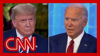 CNN reporter fact-checks dueling town halls in 3 minutes