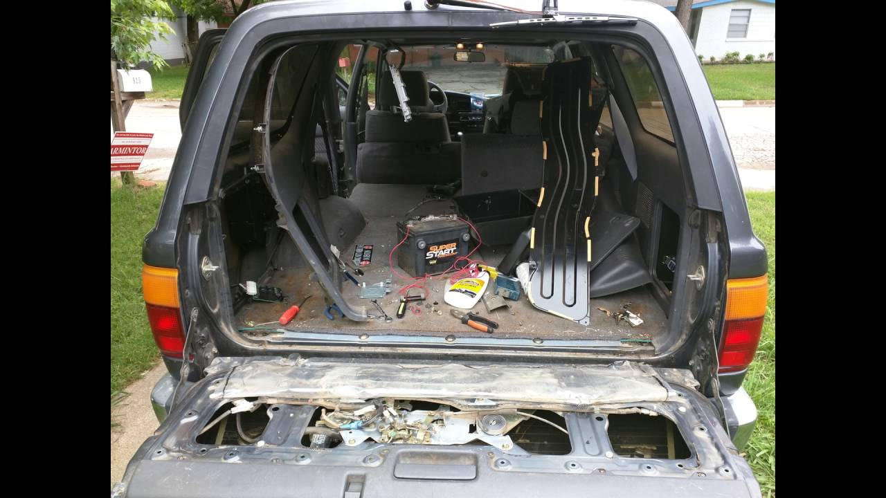 Rear Window Repair on 90 95 4runner Toyota YouTube