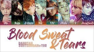 BTS (방탄소년단) – Blood Sweat & Tears [KARAOKE ver.] [8 Members ver.] (Color Coded Lyrics Han|Rom|Eng)