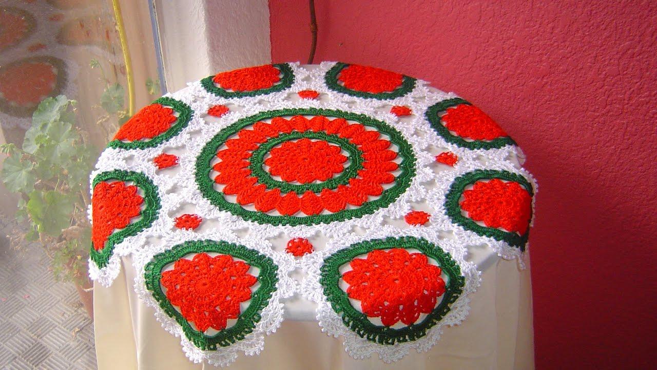 Centro de mesa a crochet paso a paso diy youtube for Centro de mesa a crochet