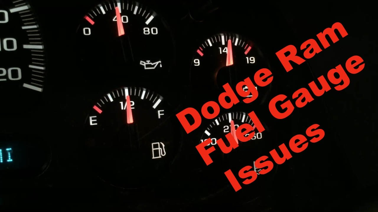 Dodge Ram Fuel Gauge Problems Replacing Pump