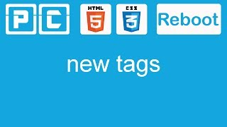 HTML5 and CSS3 beginners tutorial 33 - New tags for the layout