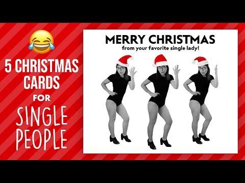 CHRISTMAS CARD IDEAS FOR SINGLE PEOPLE | @karenkavett