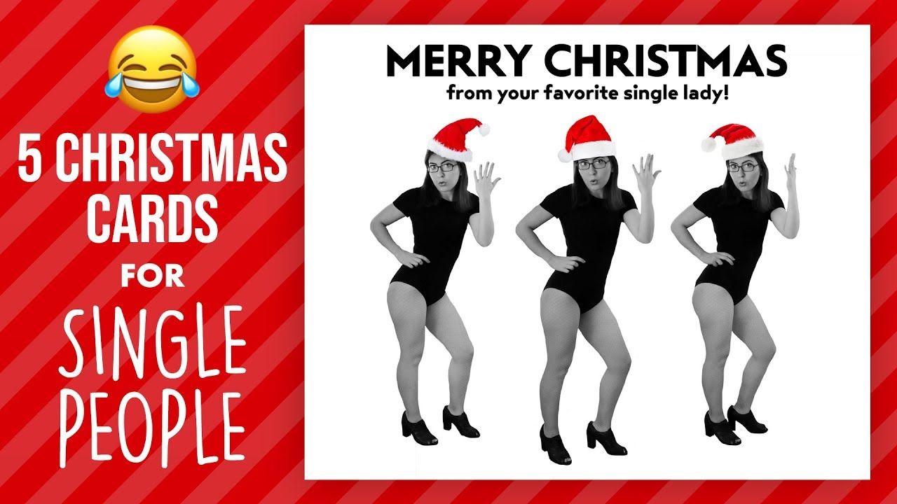 CHRISTMAS CARD IDEAS FOR SINGLE PEOPLE | @karenkavett - YouTube