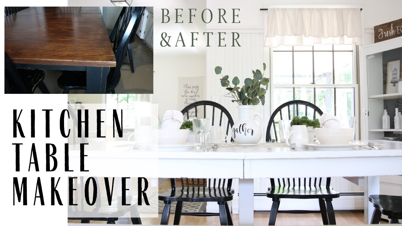 Table Makeover Kitchen Table Redo Painted Furniture Farmhouse Table Youtube