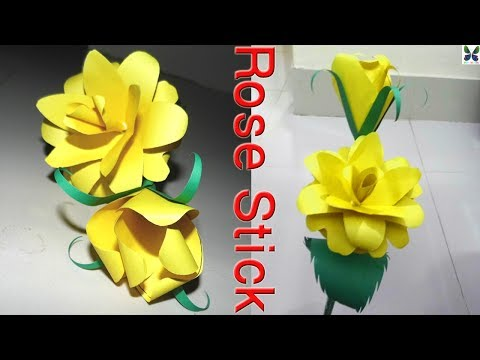 Diy Rose Tutorial | How to make ROSE OF PAPER | DIY Paper Crafts