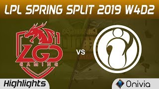 LGD vs IG Highlights Game 1 LPL Spring 2019 W4D2 LGD Gaming vs Invictus Gaming by Onivia
