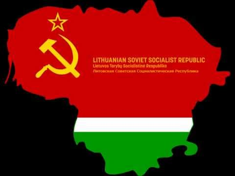Anthem of the Lithuanian Soviet Socialist Republic (1940-1991) [HD]
