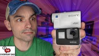 GoPro Hero 7 Black VS Sony FDR X3000!  Whats the BEST Stabilized 4k Camera?