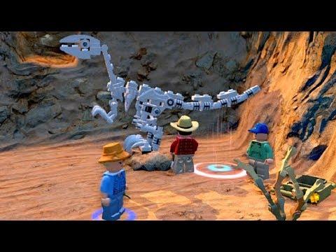 Lego Jurassic World 2.Раскопки Динозавров в Пустыне.ЛЕГО мультик ИГРА про динозавров.#Lego