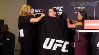 UFC 229's Aspen Ladd official weigh in highlight