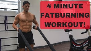 4 Minute Fat Burning Battle Rope Finisher Workout! #CrockFit
