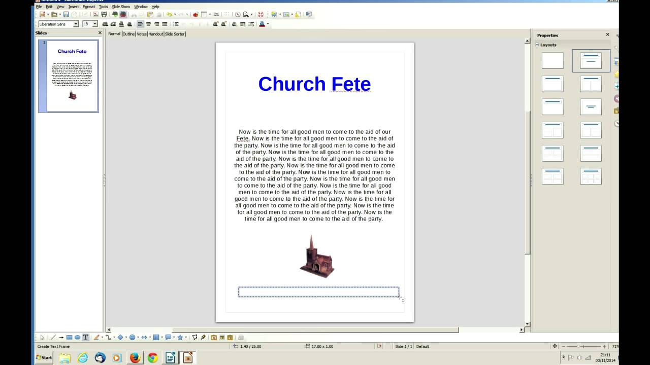 Libreoffice Impress Simple Poster