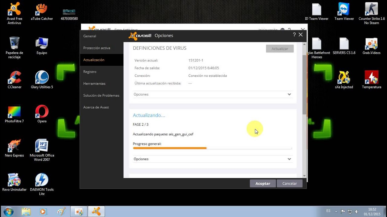 avast actualizacion windows 10