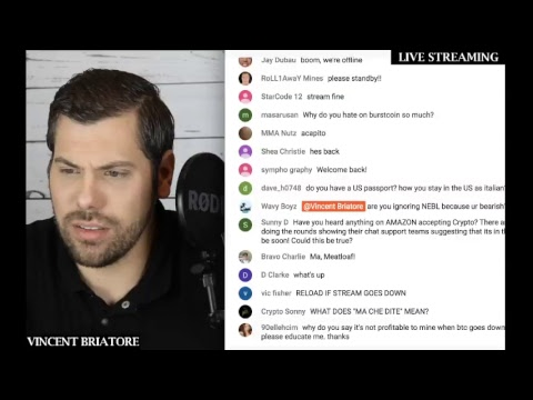 Crypto Livestream #001 By Vincent Briatore