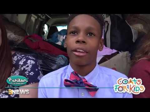 Coats For Kids 2017 visits Midlothian Middle School