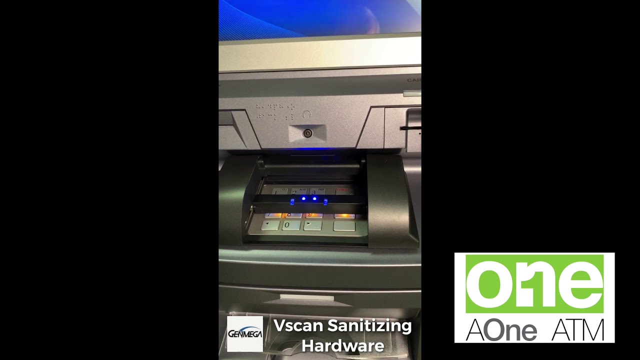 AOneATM utilizes an ATM Keypad Sanitizing Solution from GenMega