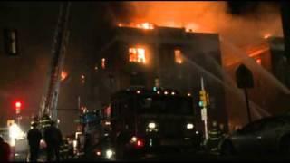 01 10 11 5th alarm apartment fire philadelphia pa