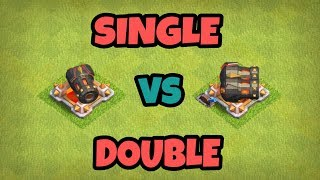 SINGLE vs DOUBLE CANNON ( COMPARING TWO TYPES OF CANNONS ) | GEAR UP THE MAX CANNON |