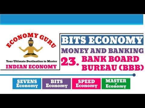 BANK BOARD BUREAU (BBB) | BITS ECONOMY | MONEY AND BANKING | ECONOMY GURU | NEO IAS