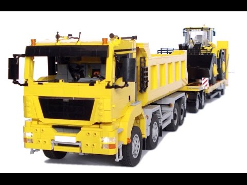 Lego Man Tgs Dump Truck With Trailer And Instructions Youtube
