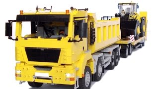 LEGO MAN TGS Dump Truck with trailer and instructions