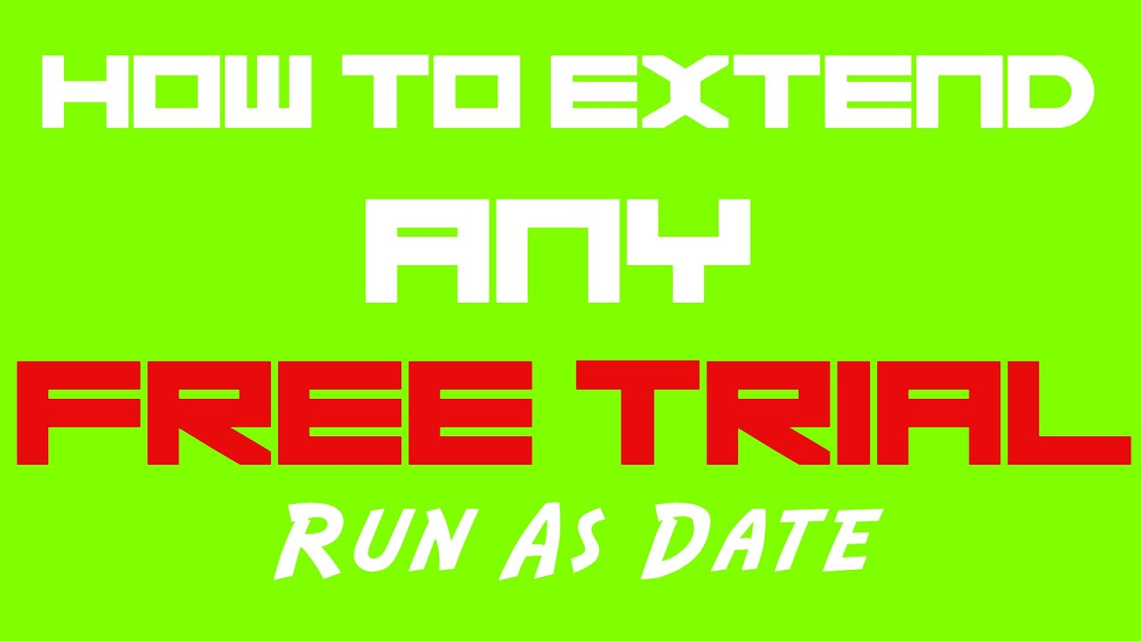 Worksheet Extend Free Trial extend any free trial runasdate tutorial youtube tutorial