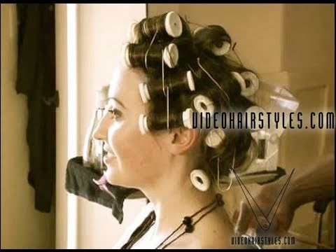 How To Set Hot Rollers For A Sexy Hairstyle Youtube