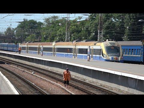 [4K] UZ Trains In Odessa And CFM D1M To Chisinau [June, 2019]