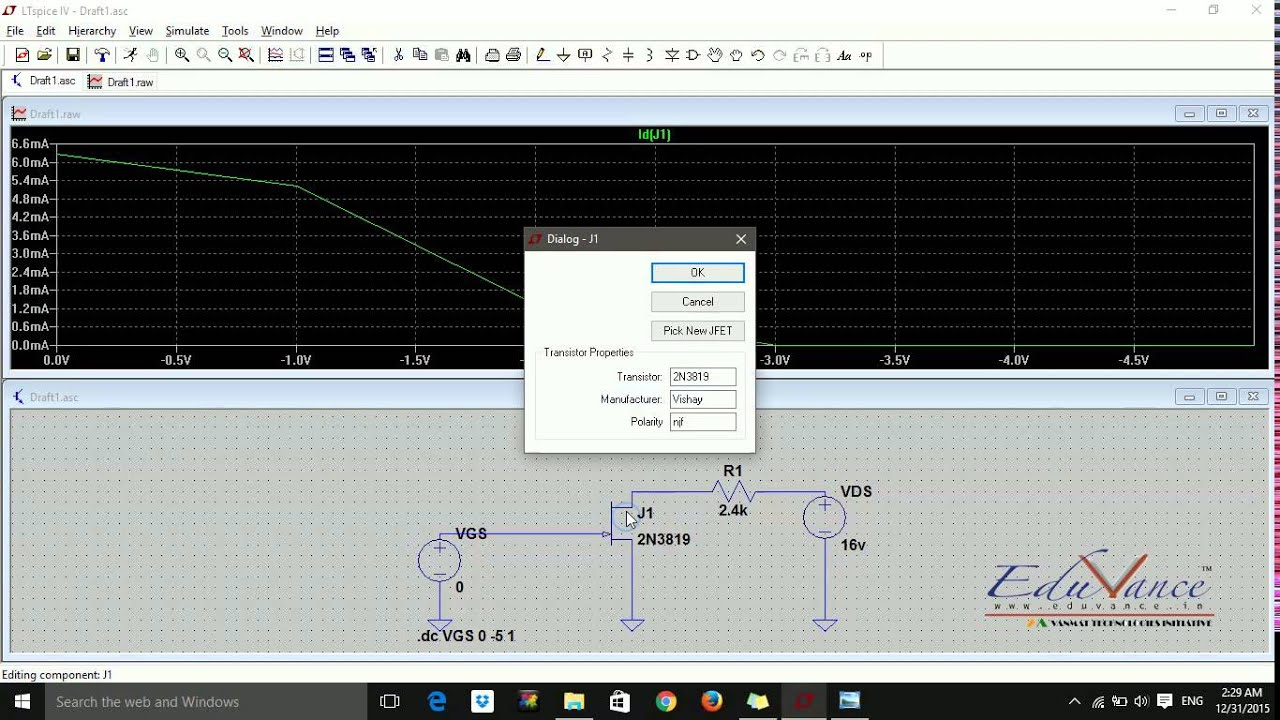 Ltspice Lecture 4 Jfet Characteristics Youtube As Curve Tracer For Jfets Displays Content From Electronic Design