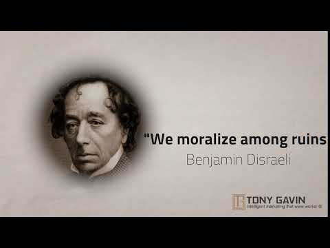 GREAT THINKERS SPEAK: BENJAMIN DISRAELI