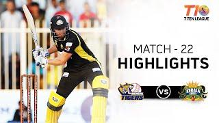 Match 22  Kerala Knights vs Bengal Tigers, T10 League 2018